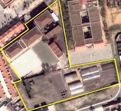 Vista aérea del IES Bajo Guadalquivir