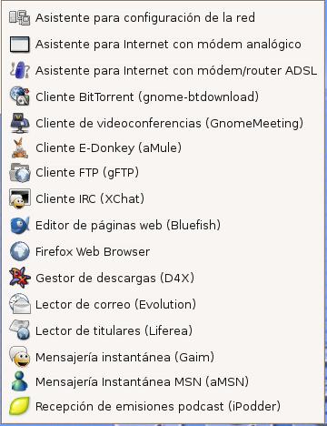 Servicios de Internet en Guadalinex V3