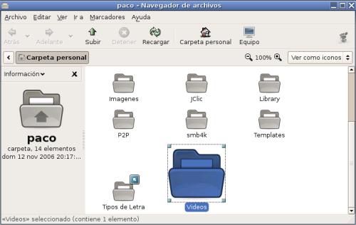 Ampliación de archivos individualmente