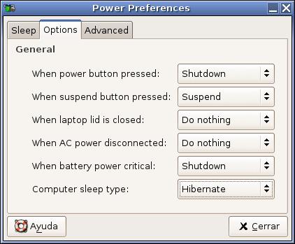 Preferencias de energía