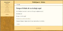 Plantillas de webquest