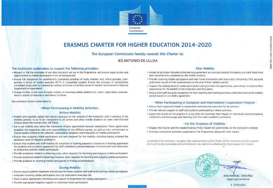 Carta ECHE 2014-20