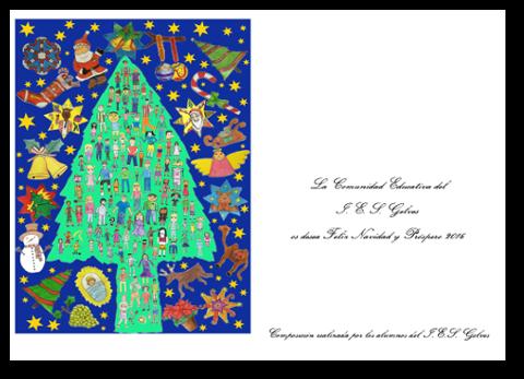 Felicitacion navidad 15-16 azul
