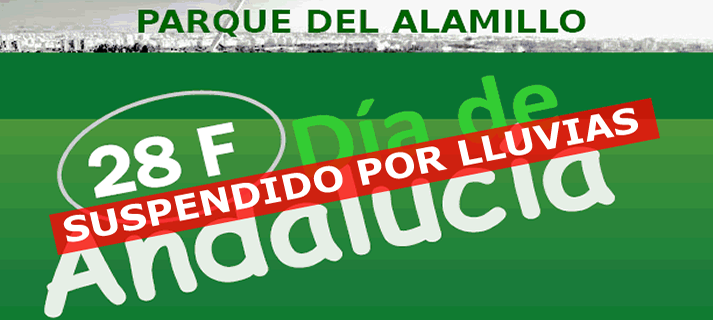 El Parque del Alamillo suspende los actos organizados con motivo del 28F ante la previsión de intensas lluvias