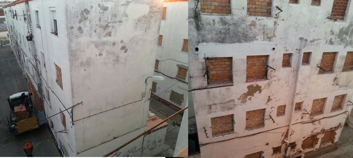 Adjudicada la demolición del primer edificio de José Antonio, en El Puerto de Santa María, que se ejecutará en un mes