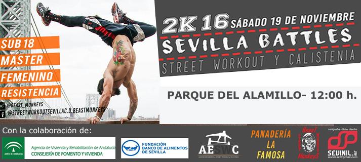 El parque de Calistenia del Alamillo acoge diversas competiciones street workout en beneficio del Banco de Alimentos