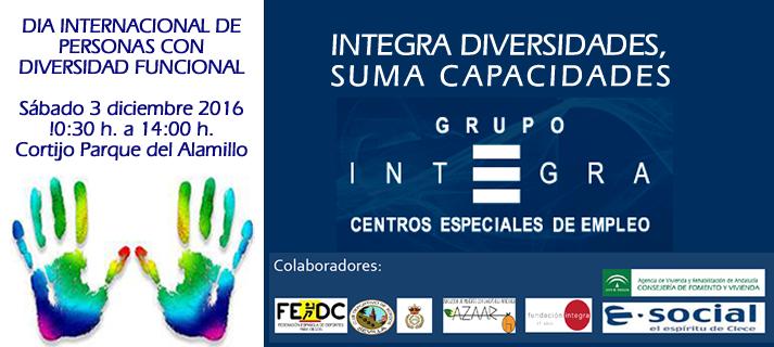Integra celebrará el sábado 3 en el Alamillo el Día de la Diversidad Funcional