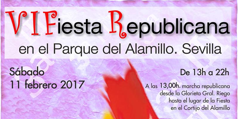 El sábado día 11 se celebra la VI Fiesta Republicana en el Parque del Alamillo