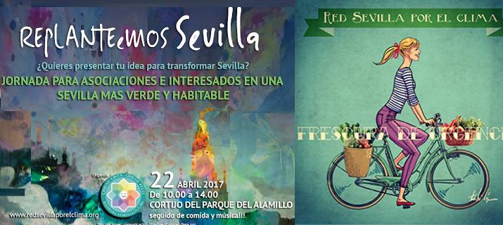 """La Red por el Clima organiza para el 22 de abril en el Alamillo la jornada """"Replanteemos Sevilla"""""""