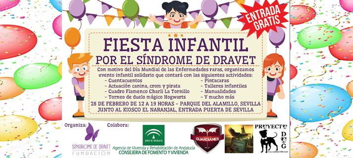El Parque del Alamillo acoge el próximo 28 de febrero una fiesta infantil por el síndrome de Dravet
