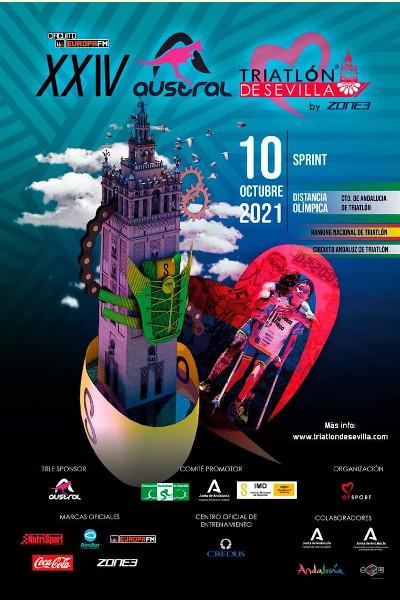 El Parque del Alamillo acogerá la llegada a meta de  los atletas del Austral Triatlón de Sevilla