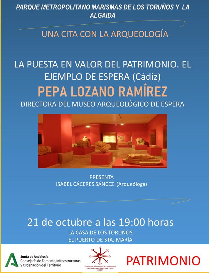CITA CON LA ARQUEOLOGÍA: CARISSA AURELIA-CASTILLO DE FATETAR Y PUESTA EN VALOR DEL MUSEO ARQUEOLÓGICO DE ESPERA
