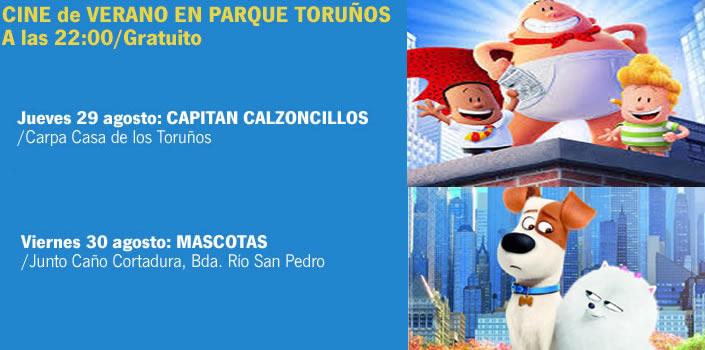 El Parque de Los Toruños ofrece este verano un ciclo de cine con 14 proyecciones