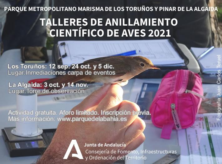 El próximo 3 de octubre, taller de anillamiento de aves en el observatorio de La Algaida
