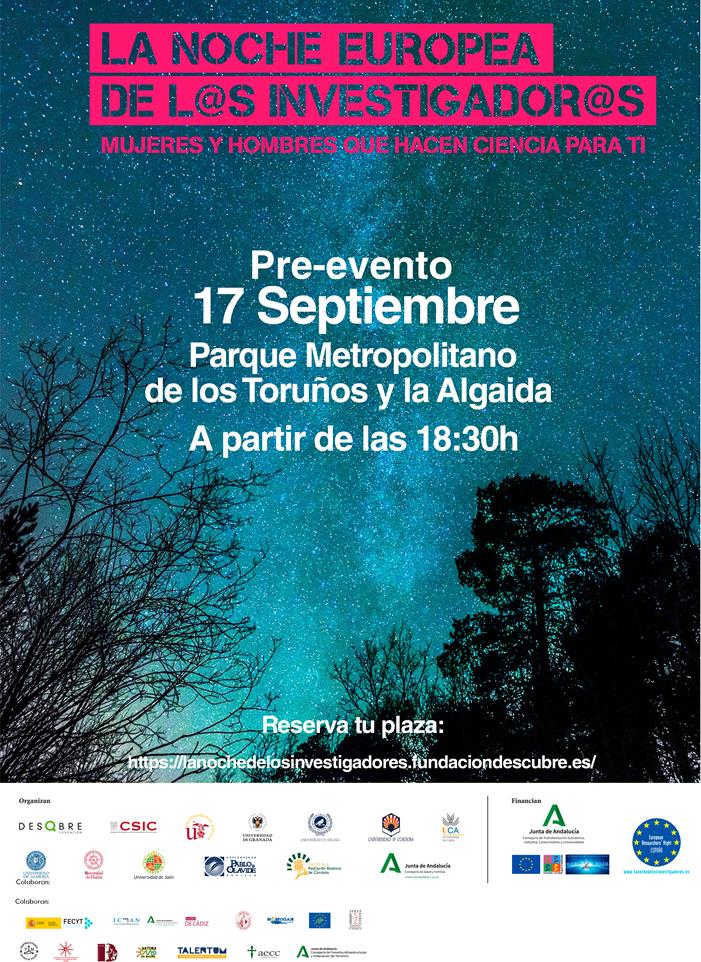 Este viernes, jornada astronómica en el Parque de los Toruños para acercar la ciencia a la sociedad