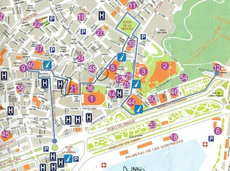 Mapa Turistico De Malaga.Ruta Turistica Por El Centro De Malaga Destinos