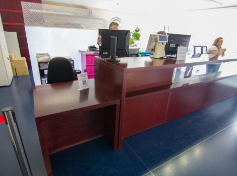 Centro de Recepción de visitantes. Mostrador de atención