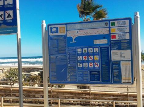 Señalización de playa