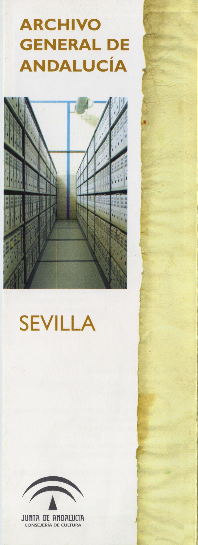 Archivo General de Andalucía (Tríptico informativo)