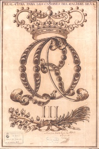 Real Cifra de Carlos III para los cañones de A 8