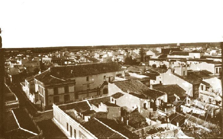 AHPH. F-002/001. Vista aérea de Huelva, orientada al Oeste