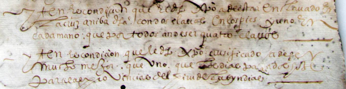 Detalle cláusulas Cristo Clemencia