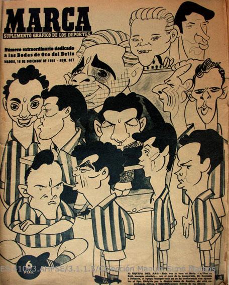 Número Extraordinario del Diario Marca del 16 de diciembre de 1958 dedicado a la celebración de las Bodas de Oro del Real Betis Balompié.