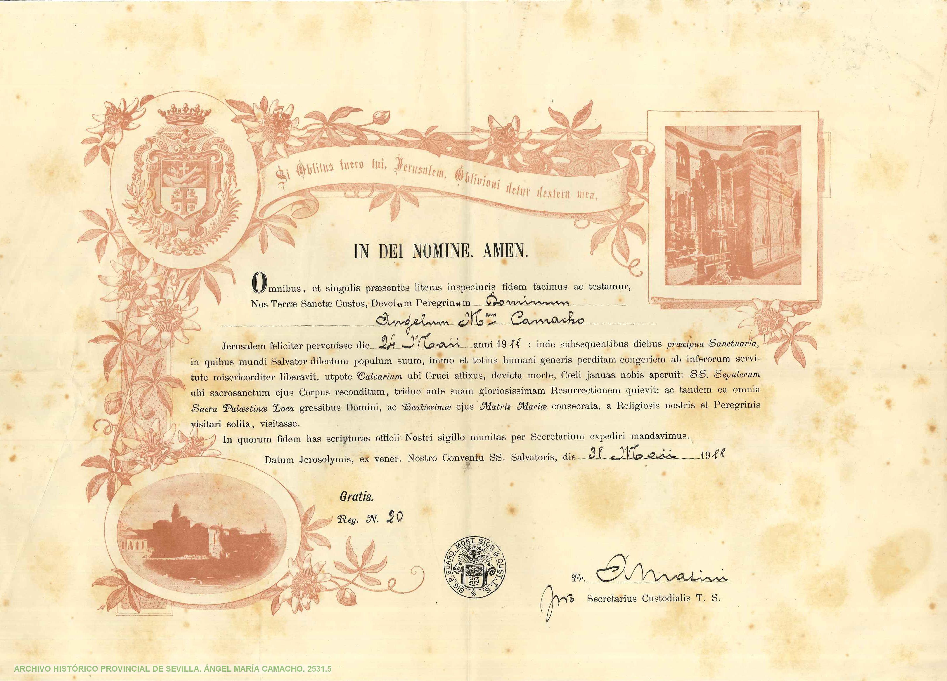 Diploma Peregrino