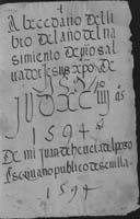 Indice año 1594