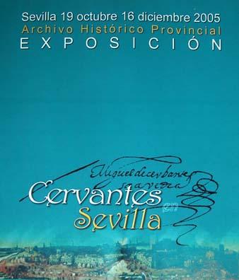 Exposición Cervantes en Sevilla. Tríptico