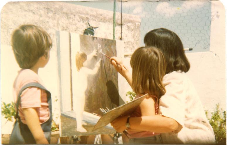 pintando con Rocío y Bernardo_24625