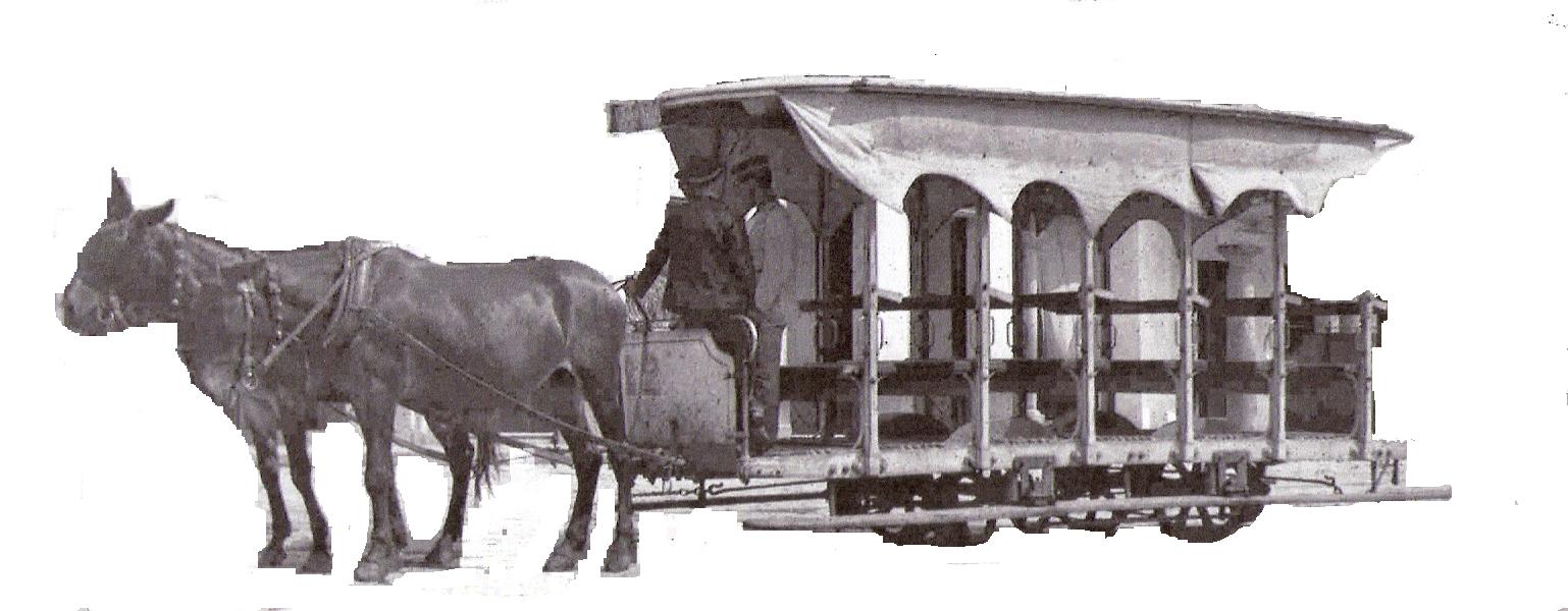 tranvia de mulas