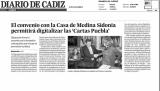 2013 Diciembre, Diario de Cádiz, Medina Sidonia Cartas Pueblas