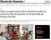 Adra recupera un archivo histórico sobre la construcción del puente de la barriada de Puente del Río