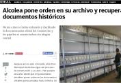 Alcolea pone orden en su archivo y recupera documentos históricos