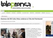 Alumnos del IES Celia Viñas celebran el `Día del Patrimonio¿