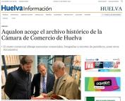Aqualon acoge el archivo histórico de la Cámara de Comercio de Huelva