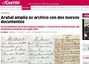 Arahal amplía su archivo con dos nuevos documentos