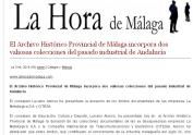 Archivo Hª Prov. Málaga dos nuevas colecciones julio 2014