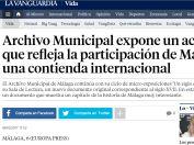 Archivo Municipal expone un acta del XVII que refleja la participación de Málaga en una contienda internacional