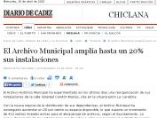 Archivo municipal Chiclana amplía instalaciones