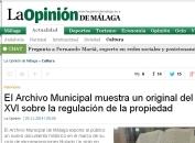 Archivo municipal Málaga - Exposición noviembre 2014