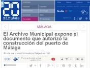 Archivo municipal Málaga documento Puerto Málaga