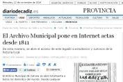 Archivo municipal Zahara Sierra en internet