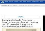 Ayuntamiento de Estepona incorpora una colección de más de 250 postales antiguas al Archivo Histórico Municipal