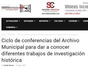 Ciclo de conferencias del Archivo Municipal para dar a conocer diferentes trabajos de investigación histórica