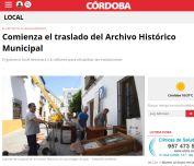 Comienza el traslado del Archivo Histórico Municipal