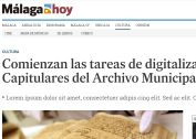 Comienzan las tareas de digitalización de Actas Capitulares del Archivo Municipal de Nerja