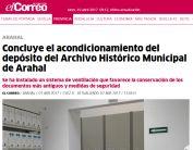 Concluye el acondicionamiento del depósito del Archivo Histórico Municipal de Arahal