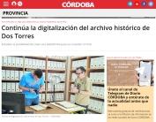 Continúa la digitalización del archivo histórico de Dos Torres